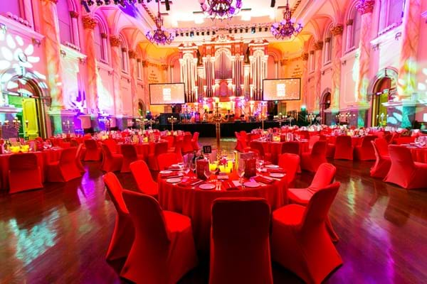 Adelaide Town Hall transformed for the first Red Ball Adelaide raising funds for Fight Cancer Foundation.