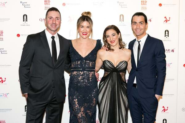 Reality TV stars Carmine and Lauren Finelli join designers Kate Anderson and Jaimie Sortino on the Red Ball Adelaide red carpet.