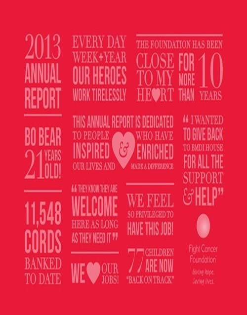 Fight Cancer Foundation 2013 Annual Report