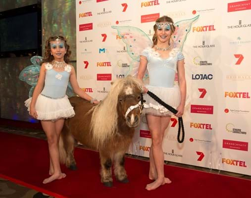 Pippy the pony walked the red carpet for Fight Cancer Foundation's fundraising event Red Ball Melbourne.