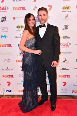 Australian actor Eric Bana and wife Rebecca Gleeson on the Red Ball Melbourne red carpet for Fight Cancer Foundation.