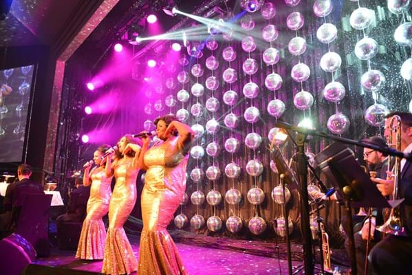 Dreamgirls stage production performing at Fight Cancer Foundation's 2015 Red Ball Melbourne.