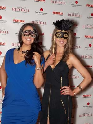 Guests embrace Masquerade theme on the 2010 Red Ball Melbourne red carpet.