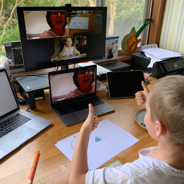 Our education support program provides offers virtual learning for kids with cancer.