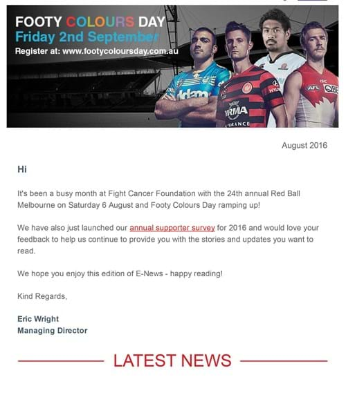 Fight Cancer Foundation August E-News