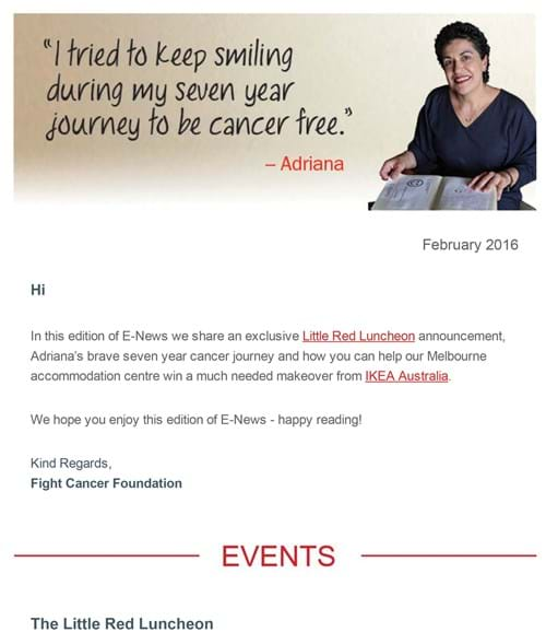 Fight Cancer Foundation February E-News
