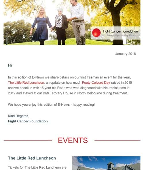 Fight Cancer Foundation January E-News