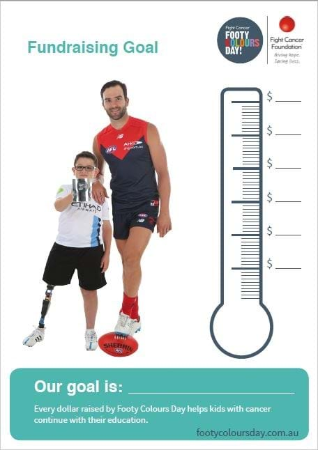 Footy Colours Day fundraising goal