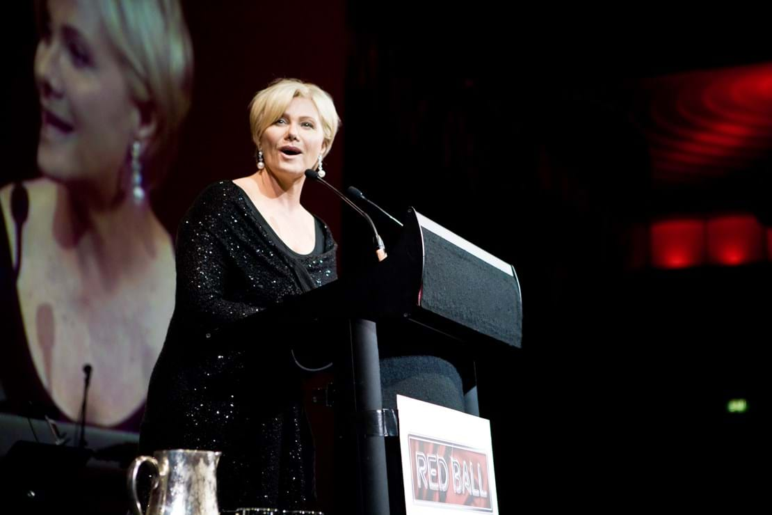 Fight Cancer Foundation Patron Deborra-lee Furness hosted the 2009 Red Ball Melbourne.