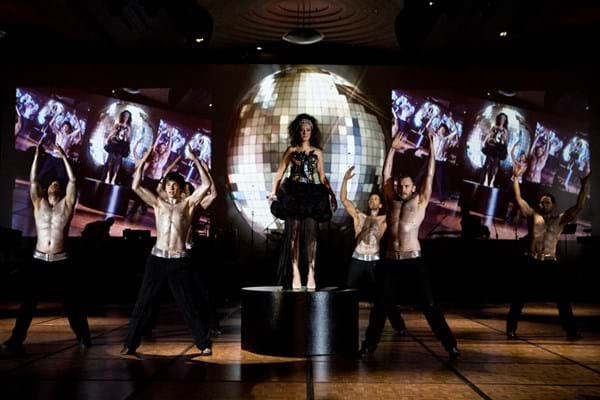 Dancers entertain guests at Red Ball Melbourne 2009 to fundraise for Fight Cancer Foundation.