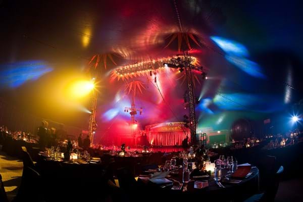 Inside the Big Top for Fight Fight Cancer Foundation's charity gala event Red Ball.