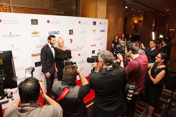 Fight Cancer Foundation Patrons Deborra-lee Furness and Hugh Jackman hit the red carpet for Red Ball.