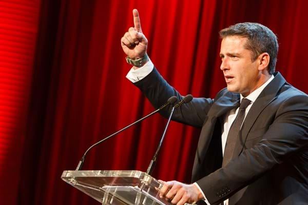 Karl Stefanovic hosts Fight Cancer Foundation's Red Ball to raise funds for kids with cancer.