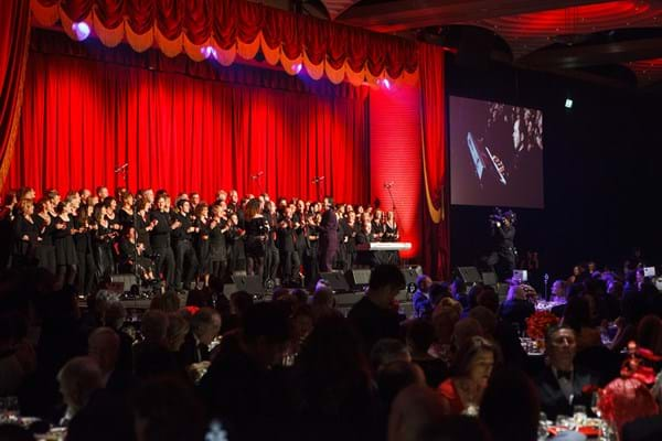 Melbourne Gospel Choir perform at Fight Cancer Foundation's 2012 Red Ball Melbourne.