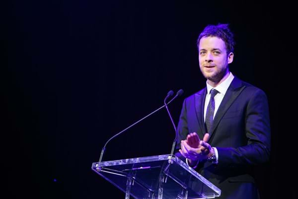 Hamish Blake hosting Fight Cancer Foundation's Red Ball Melbourne at Crown Palladium.