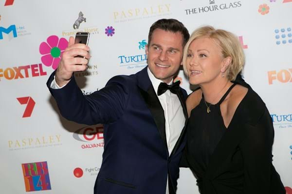 Australian stars David Campbell and Deborra-lee Furness on the Red Ball Melbourne red carpet for Fight Cancer Foundation.