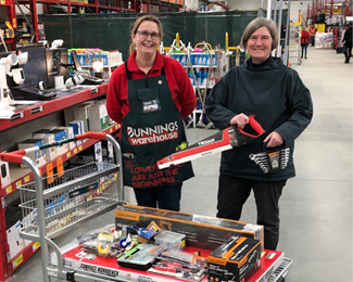 July 2020 - Bunnings Albury will donate all the tools needed to fit out the volunteer handyman's workshop, ensuring Hilltop is maintained in top shape!