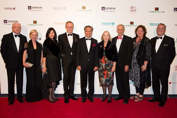 Dr Kym Bannister, Prof Brenda Wilson, Lieutenant Governor, Lady Mayoress Genevieve Theseira- Haese, Lord Mayor Martin Haese, His Excellency The Honourable Hieu Van Le , Jane Alsop, David Alsop, Nat Cook MP, Member for Fisher and Eric Wright on the Red Carpet.   (photo credit: Jo-anna Robinson)