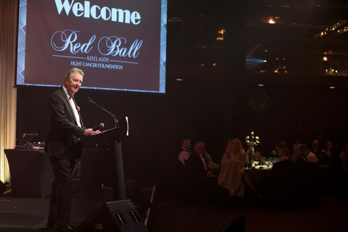 2018 - Television veteran Graeme Goodings hosted the third annual Red Ball Adelaide