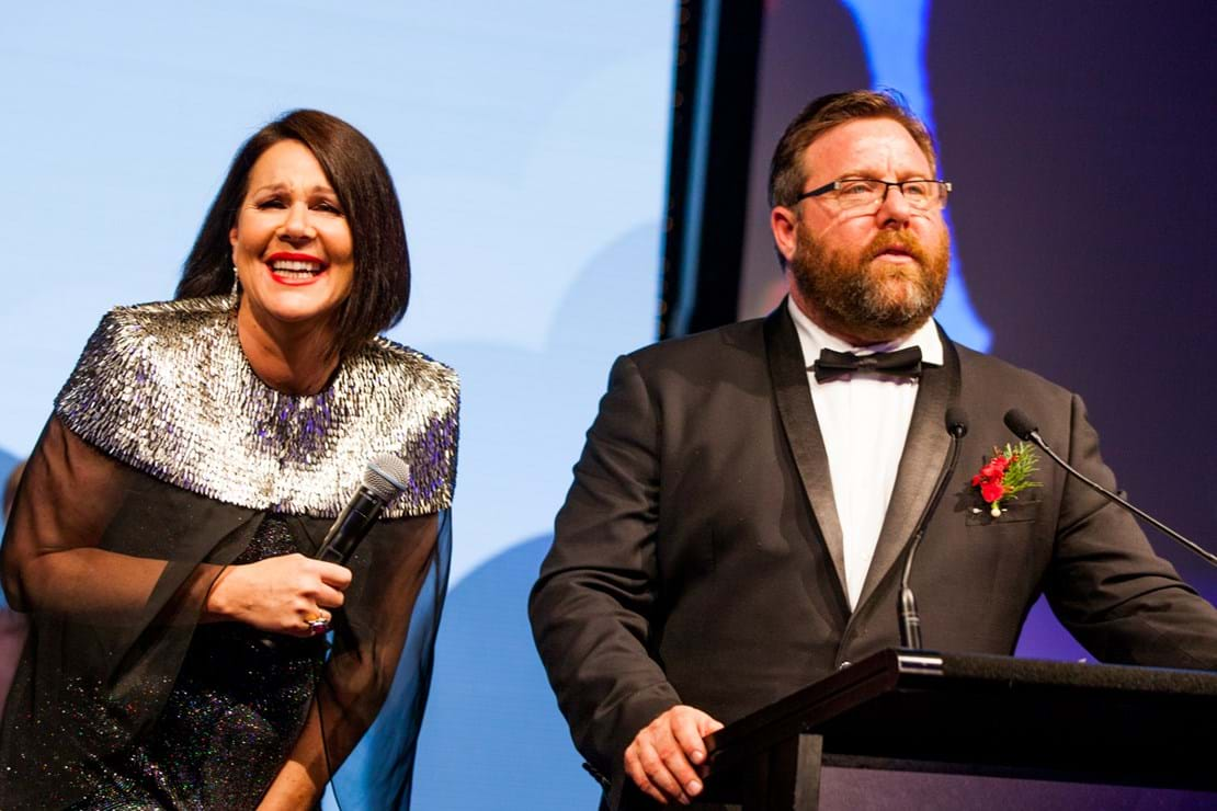 Julia Morris and Shane Jacobson at Red Ball Melbourne's 25th Anniversary