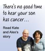 Kate was supported by Fight Cancer Foundation during son Alex's cancer battle