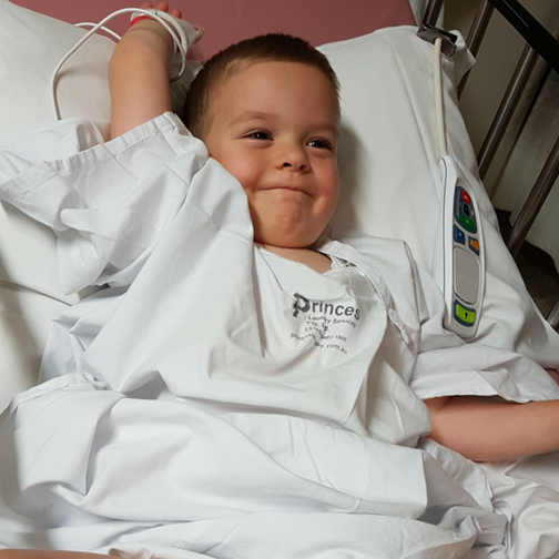 When Charlie was 18 months old he underwent a bone marrow transplant.